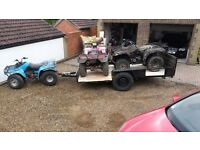 Large car trailer for quads or machinary