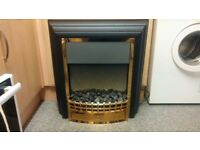 CHERITON FREE STANDING BLACK FIRE WITH REMOTE CONTROL VGC