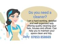 Do you need a cleaner?
