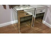 NEXT mirrored bedside tables FREE DELIVERY