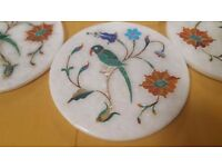 Marble and Semi Precious Stone Work Coasters