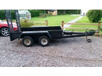 Indespension twin wheeled Trailer. Similar to Ifor Williams.