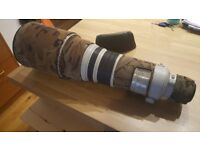 Canon 500mm f/4 IS lens, great condition