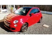 FIAT 500 1.2S SPORT OCT 14 LOW MILES .LEATHER .PAN ROOF,PARKING SENSORS,1 LADY OWNER,FSH. SHOWROOM.