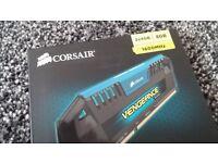 Corsair Vengeance Memory 8gb DDR3 2x4gb RAM BLUE 1600mhz