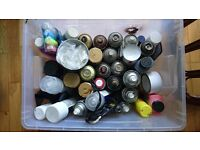 Spray Paint Box Montana Liquitex Black Enamel Varnish Clear Red Green Chalk markers + MORE