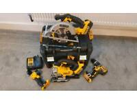 Dewalt 18v xr kit. Circular saw jigsaw drill cordless brand new never used