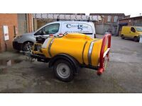 Towable Pressure Washer with Bowser 4 Hire 1100ltr