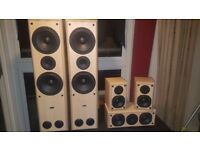 Home Cinema Onkyo AV Sound Processor Amp With Heltax Speakers