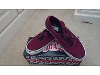 Womens Vans (burgundy) authentic trainers