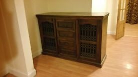 Solid Mahogany Wooden 4 Drawer Side Board