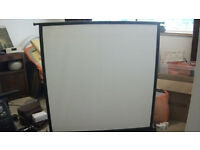 Hunter Safari Collapsable Projection Screen - Vintage - Used.