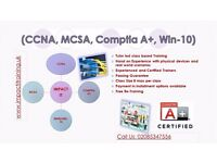 CCNA (R&S), MCSA Server 2012, MCSA Windows-10
