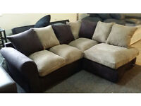 NEW Graded Fabric Corner Sofa Suite Local Delivery Available