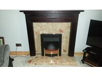 fire place fireplace fan heater, black coals included (Surround NOT INCLUDED!) all working