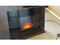Wall mouted remote control electric fire