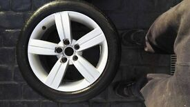 2010 AUDI TT ALLOY WHEELS (2 OFF) with tyres 225-50-17