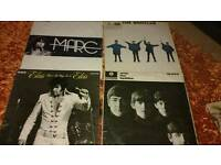 Vinyls the Beatles Elvis
