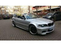 BMW E46 330CI CONVERTIBLE FACE LIFT GOOD CONDITION ONE YEAR MOT