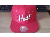 Mitchell & Ness Red Miami Heat Snapback Cap