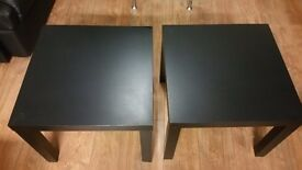 FREE DELIVERY black light weight sidetables ×2