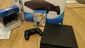 PS4 Slim 500GB Black Console with extra new controller and Fifa 17