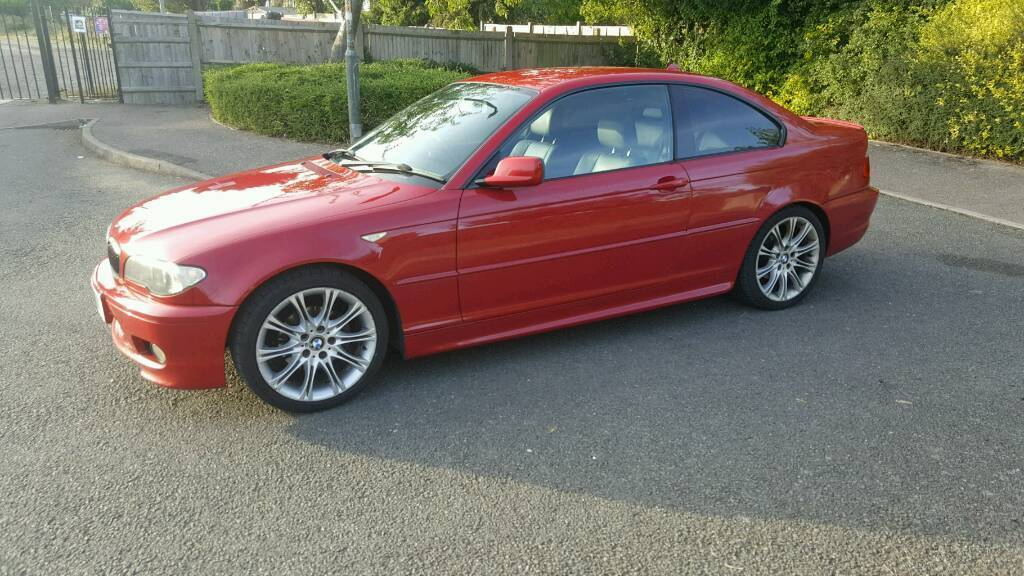 bmw 320i coupe 2004 m sport e46 coupe red full black leather great condition 1850 in. Black Bedroom Furniture Sets. Home Design Ideas