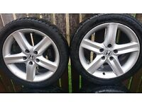"4 Honda Civic 17"" Alloy Wheels from 2008 civic £300 ono"