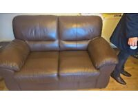 FOR SALE REAL LEATHER 3 SEATER + 2 SEATER SOFAS SUITES