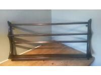 Ercol plate rack in dark elm