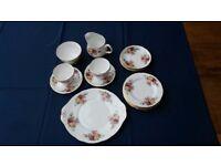 Duchess Bone China 17 piece tea set, Floral