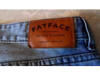 Mens fat face straight jeans size 36r