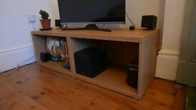 TV Unit - Like new, storage within, oak effect
