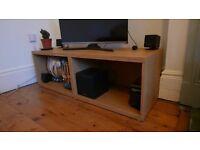 TV Unit - Like new, storage within, oak effect