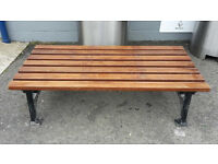 6X4 DOUBLE BENCH WITH ROUGHT IRON LEGS