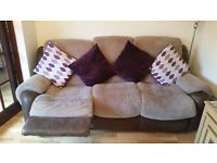3 and 2 Seater Reclining Sofa