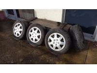 205/60/R15 wheel tyres,5 stud,lots of thread on them,good condition.