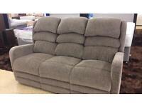 Brown fabric Sitting Pretty 3 seater sofa