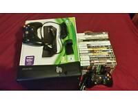 Xbox 360 (250GB) + 14 Games