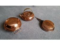 Copper pan, kettle and bbq roasting pan