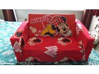 Disney Minnie Mouse Kids Foam Sofa Chair Flip Out Bed