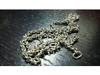 Unisex 925 silver chain 50cm long
