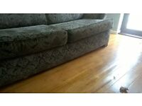 Free 4 seater sofa great condition. Grey floral