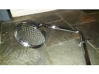 Chrome Large SHOWER HEAD with RISER