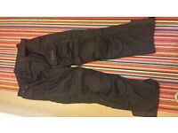 Black Motorcycle Weise Trousers Size L