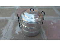 3 layer steamer steel pots