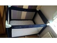 Travel cot bed -used