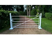 Wrought Iron Antique Front Drive/ Farm Gate c/w Posts