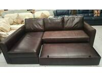 Corner sofa with pull out sofa bed and storage can deliver