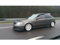 1999 HONDA CIVIC VTI-S B18C4 TURBO BRONZE MODIFIED 340BHP LOADS SPENT ROTAS RECARO BARGAIN